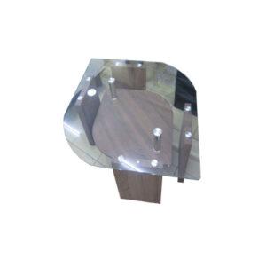TABLE CENTRALE AVEC PLATEAU EN VERRE