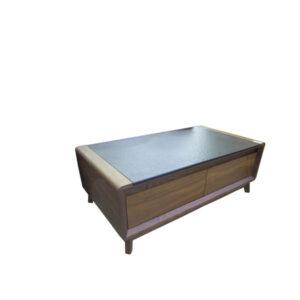 TABLE BASSE AVEC BOIS + PIERRE 1.3M