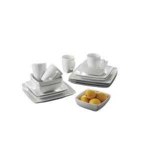 Ensemble de vaisselle 16 pièces-blanc cameroun